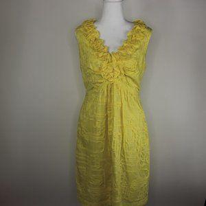 Tiana B. Yellow Sleeveless Ruffle Dress